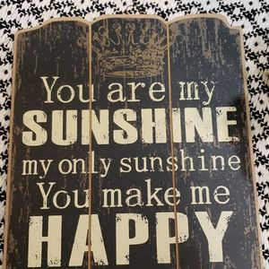 """""""You Are My Sunshine"""" Black Rustic Plaque"""